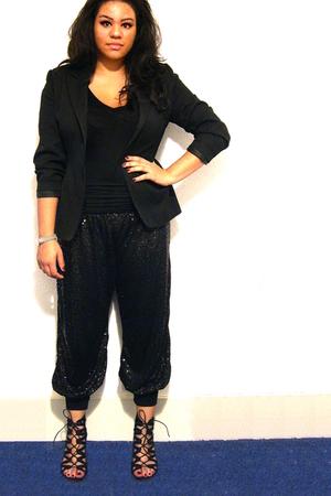 Mixx pants - Topshop top - thrifted blazer - bronx shoes