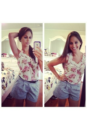 flowers Charlotte Russe blouse