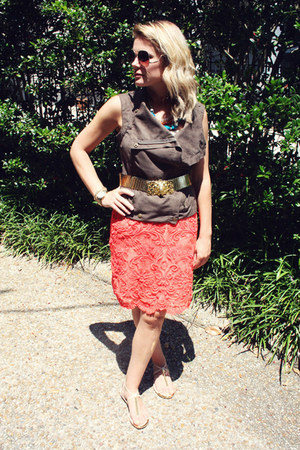 Anthropologie sandals - Urban Outfitters sunglasses - Anthropologie skirt