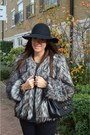 Black-h-m-hat-heather-gray-faux-fur-coat-topshop-coat