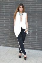 Zara vest - Christian Louboutin pumps - black pants Primark pants