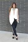 Zara-vest-black-pants-primark-pants-christian-louboutin-pumps