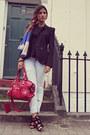 Blue-zara-scarf-sky-blue-zara-jeans-black-asos-blazer