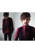 Topman shirt - waistcoat accessories - unknown tie - Trousers pants