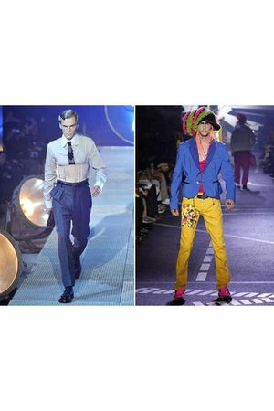 Gold-john-galliano-pants