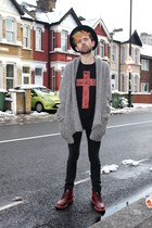 Topman cardigan - sue clowes t-shirt