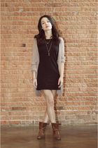 Fremont dress - Society for Rational Dress sweater - Alex & Ani bracelet