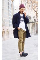 vintage coat - Primark shirt - H&M pants - nike free run 2 nike sneakers
