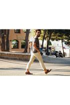 H&M t-shirt - Zara shoes - pull&bear pants - mouet glasses