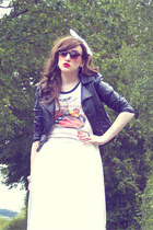 red lime crime Lime Crime accessories - forest green leather jacket H&M jacket
