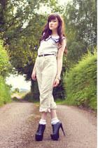 ivory vintage pants - white Ebay socks - white Urban Outfitters sunglasses