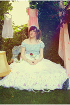 white Chicwish dress - sky blue Chicwish dress - pink pink dress Chicwish dress