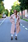 Light-pink-trench-style-moi-coat-black-cross-body-zara-bag