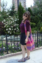 colorful bag - eggshell H&M sunglasses - magenta Piazza Italia flats
