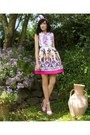White-oasap-dress-pink-quiz-clothing-heels-bubble-gum-diy-hair-accessory