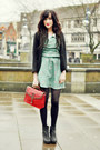 Black-new-look-boots-aquamarine-sugar-hill-bouutique-dress