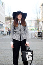 Black-black-boots-new-look-boots-heather-gray-miss-selfridge-coat