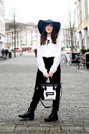 black black boots new look boots - heather gray Miss Selfridge coat