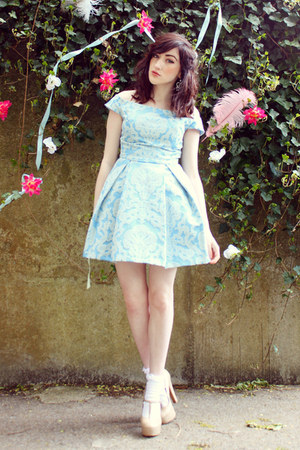 light blue debutante style Topshop dress