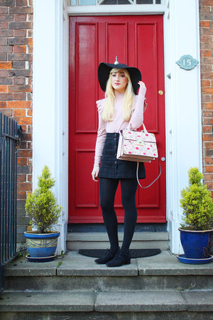 light pink Marks and Spencers bag - light pink new look jumper