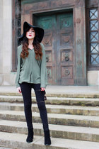 black new look boots - black Topshop hat - black black leggings Primark leggings