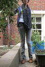 White-aeropostale-shirt-blue-fever-cardigan-black-the-limited-scarf-gray-j