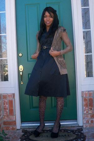 black Target dress - beige lace cardigan Target cardigan - black Charlotte Russe