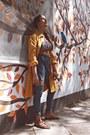 Blue-denim-diy-jeans-black-diy-blouse-carrot-orange-cape-cape