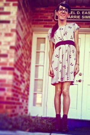 dark brown custom made boots - eggshell One Clothing dress