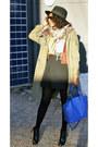 Fedora-h-m-hat-aldo-bag-forever-21-blouse-mango-skirt