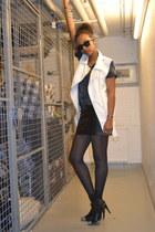 Cubus skirt - Ellos shoes - Cubus t-shirt - Cubus vest