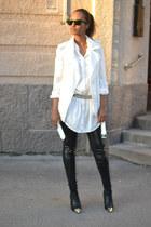 black cap-toe Ellos shoes - black GINA TRICOT leggings