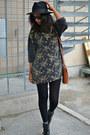 Vintage-sweater-nelly-shoes-fedora-h-m-hat-vintage-bag