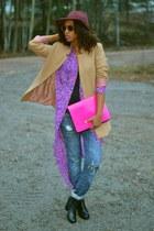 Monki purse - H&M cardigan