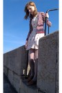 Ivory-yumi-dress-heather-gray-primark-tights-brown-accessorize-bag