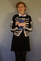 white Mark and Spencers shirt - black Primark tights - black Tescos skirt