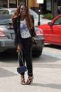 Black-zara-blazer-navy-chanel-bag-bag-navy-forever-21-top