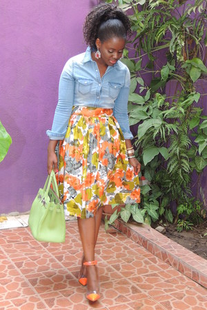 From Cheap To Chik skirt - J Brand shirt - Christian Louboutin heels