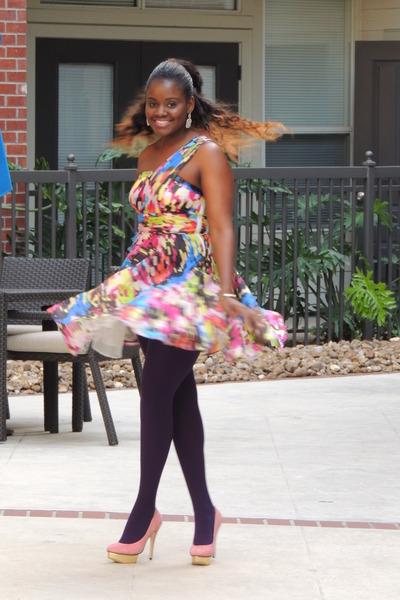 bubble gum Lulus dress - peach Charlotte Olympia pumps