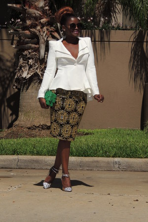 lookbookstore blazer - Chanel bag - Aldo sunglasses - virgos lounge skirt