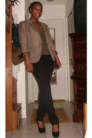 taylor delias jeans - silk lined the loft blazer - suede Forever 21 heels