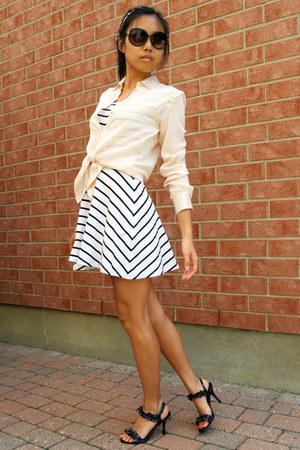 H&M dress - silk Zara shirt - Joe Fresh sunglasses