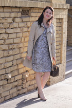 Leyendecker dress - banana republic coat - Louis Vuitton bag - Zara heels