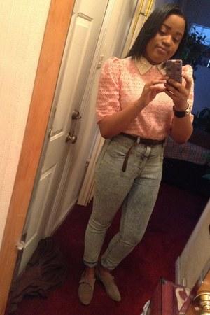 white no brand blouse - light pink American Apparel blouse