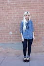 Blue-levis-jeans-blue-gap-blouse-dark-brown-ugglebo-clogs-clogs