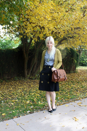 American Apparel shirt - JCPenney purse - lulus skirt - modcloth necklace
