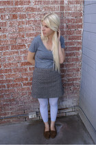 heather gray Target shirt - black Gap skirt - heather gray We Love Colors tights