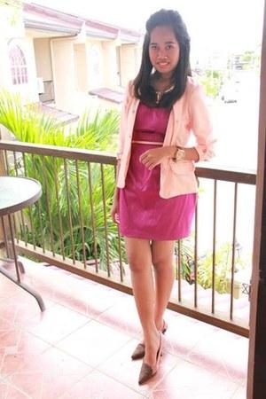 Forever 21 vest - vnc shoes - Forever 21 dress - Forever 21 necklace - DKNY belt