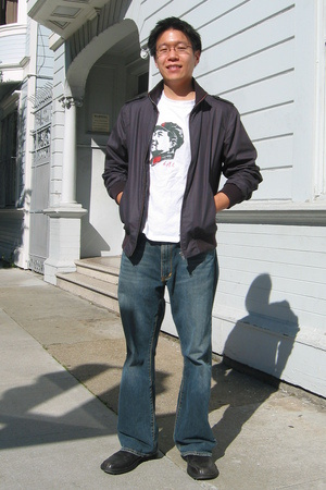 Zara jacket - Express jeans