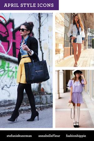 light purple dress - light yellow skirt